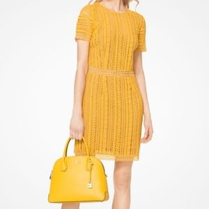 MICHAEL Michael Kors Yellow Crochet Lace Dress S